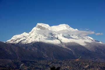 Huascaran snowcapped peak Andes Huaraz Peru